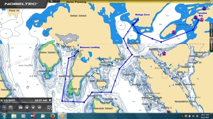 Mansons Landing to Tenedas Bay