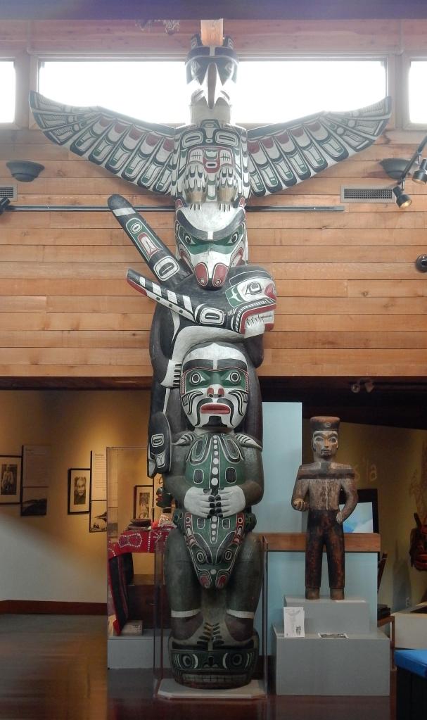 Totem at U'mista Museum