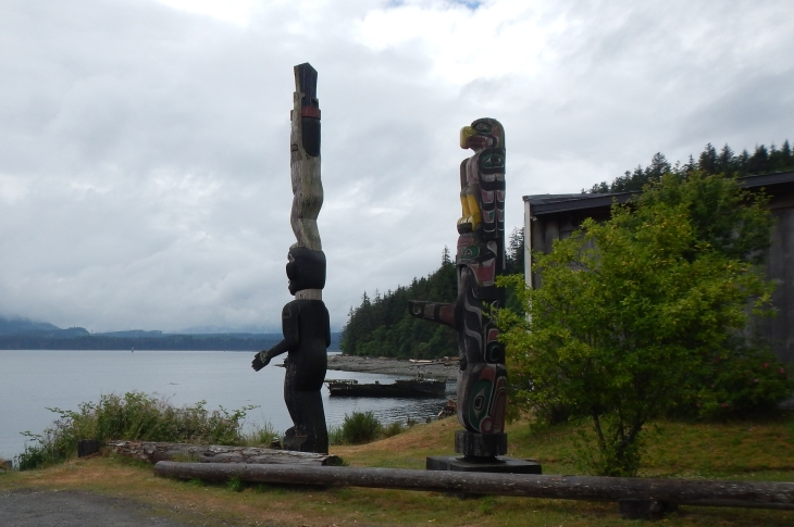 Totems at the waters' edge