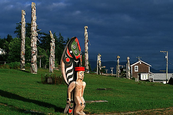 Totems at the 'Namgis Burial Grounds